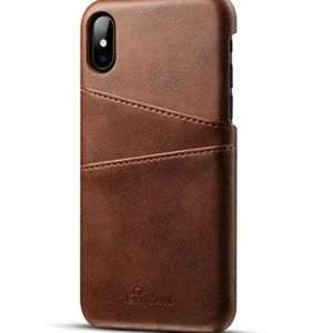 Other - NEW Brown Leather iPhone Case